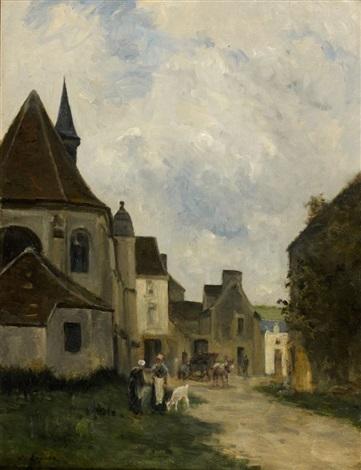 rue d'un village en pays de caux, normandie by stanislas lépine