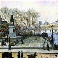 the pont neuf and the statue of henry iv, paris by julien renevier