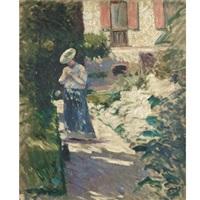 les dahlias, jardin du petit gennevilliers (study) by gustave caillebotte