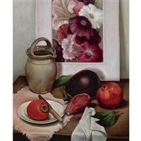 still life with earthenware jug by edna reindel