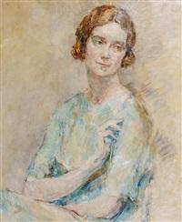 portrait of lady cynthia asquith by ambrose mcevoy