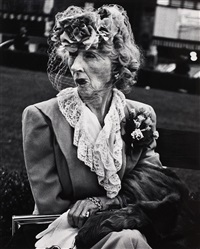 woman with veil, san francisco (from twelve photographs by lisette modell) by lisette model