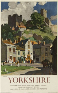 yorkshire, richmond, british railways by leonard russel squirrell