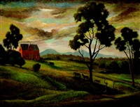 farm landscape by george duncan