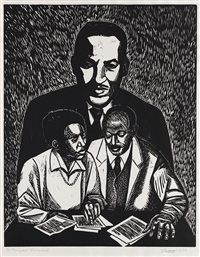 thurgood marshall (from crusaders for justice) by elizabeth catlett