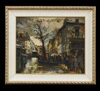 parisian street scene by olivier foss
