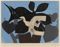 from 'l'ordre des oiseaux' by georges braque