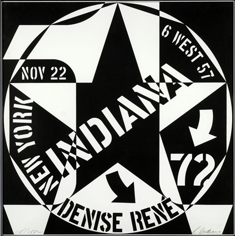 galerie denise rene new york by robert indiana