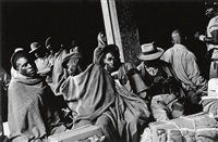 migrant workers waiting for train to bechuanaland, mayfair station, johannesburg by david goldblatt
