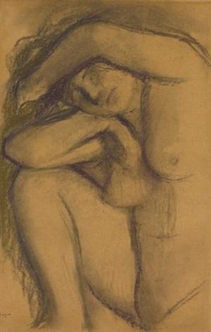 étude de nu study by edgar degas