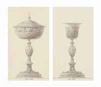 a ciborium and a chalice (pair) by charles percier