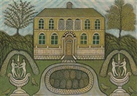 home with water fountains by morris hirshfield