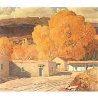 autumn in san antonio, new mexico by carl von hassler