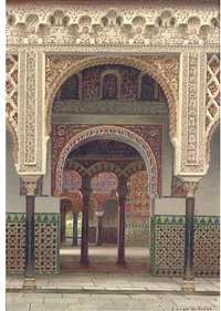 the alcazar palace, seville by f. liger hidalgo
