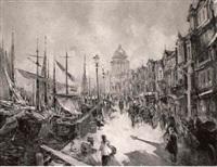 bateaux à quai à venise by vladimir ponomarev