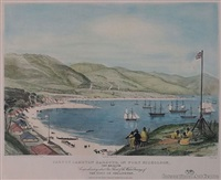 part of lambton harbour, in port nicholson, new zealand, comprehending about one third of the water frontage of the town of wel by charles heaphy