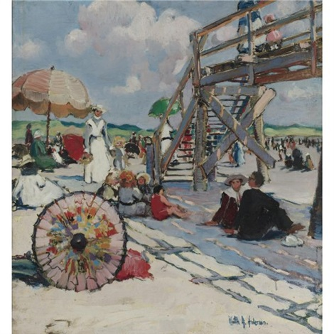 beach at gloucester by ruth a temple anderson