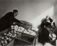 marchand de jérusalem, israël by robert capa