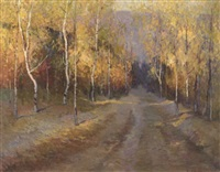autumn forest by liu jia di
