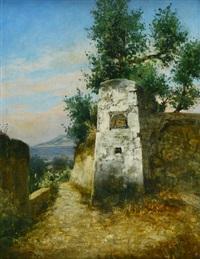 altes madonnenbild auf capri by curt agthe