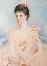 portrait of miss caroline clifford, great granddaughter of 5th duke of devonshire by blanche f. macarthur