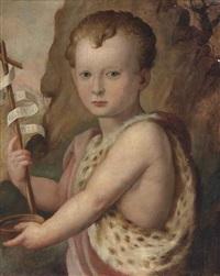 portrait of a young boy, traditionally identified as ferdinando de medici, as the infant saint john the baptist by agnolo bronzino