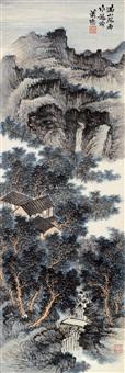 满山风雨作龙吟 立轴 设色纸本 by xiao xun