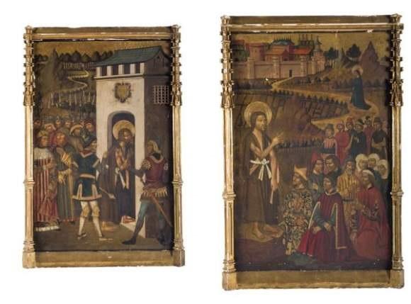 saint jean baptiste prêchant saint jean baptiste conduit en prison 2 works by juan de la abadia