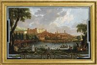 vue de la ville de moncalieri et de son château by ignazio sclopis