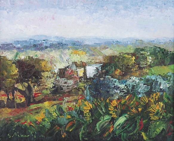 Paesaggio con girasoli by Giovanni Schialroli on artnet