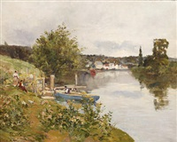 on the riverbank by raymond allègre