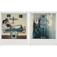 buffalo, n.y. - self-portraits (diptych) by leslie krims