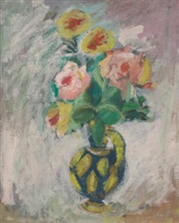 vase of flowers by arshile gorky