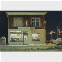 store and used car lot by john b. webster