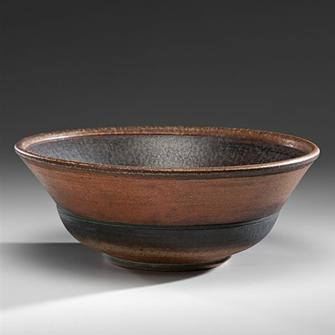 large wood fired bowl by karen karnes