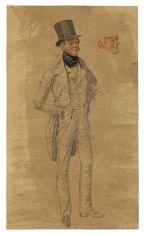 baron von arnim in ganzer figur pauline decker in halbfigur by franz krüger