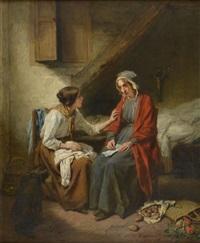 la mauvaise nouvelle by nicolas françois octave tassaert