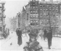 a winter street by claude baton