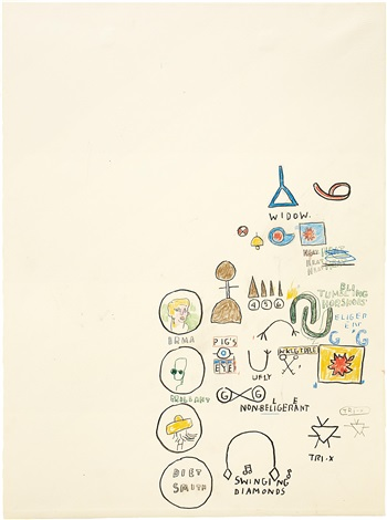 swinging diamonds by jean michel basquiat