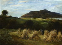 harvesting near glen ashdale, arran by john robertson reid