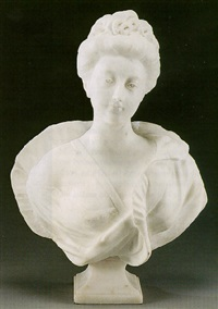 a bust of a woman by gaudenzio colombo