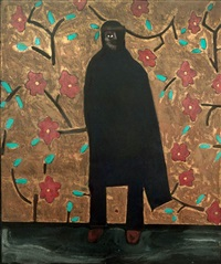 one-eyed figure in black cloak by freeland