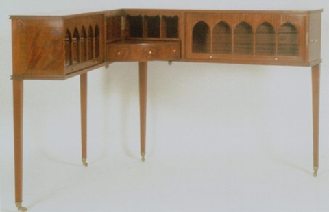 gentlemans writing desk early classical revival by brian tolle