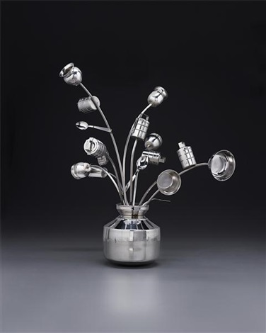 untitled pot de fleurs by subodh gupta