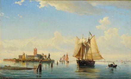 laguna di venezia by daniel hermann anton melbye