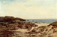 gathering seaweed, iona by john nesbitt
