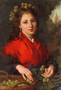 the red shawl by pierre louis de coninck