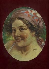 ritratto di giovane popolana by arnaldo de lisio