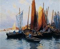 retour de pêche et fumage du poisson à concarneau by paul pascal