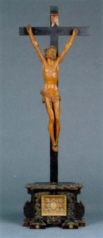 christus am kreuz by austrian school tyrolean 17